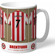 Personalised Brentford FC Dressing Room Shirts Mug