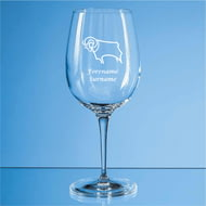 Personalised Derby County FC Crest 480ml Wine Glass