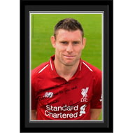 Personalised Liverpool FC Milner Autograph Photo Framed
