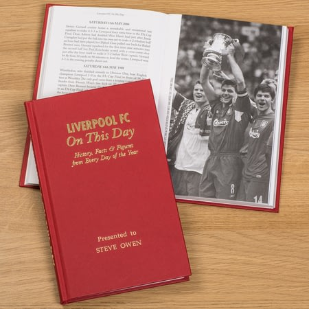 Personalised Liverpool FC On This Day Football History Book