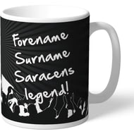 Personalised Saracens Legend Mug