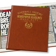 Personalised Hull Football Newspaper Book - Leatherette Cover