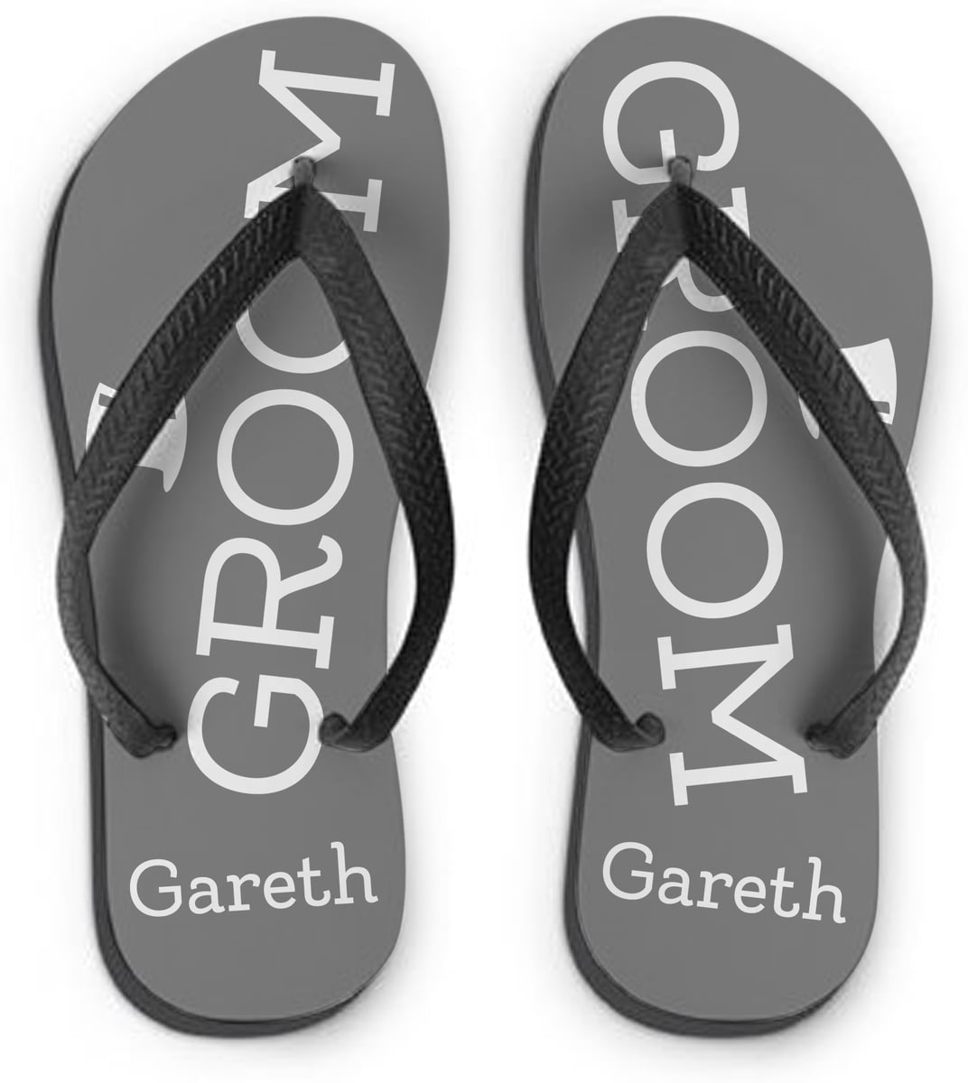 eec98e145a5d Personalised Groom Small Flip Flops from Go Find A Gift