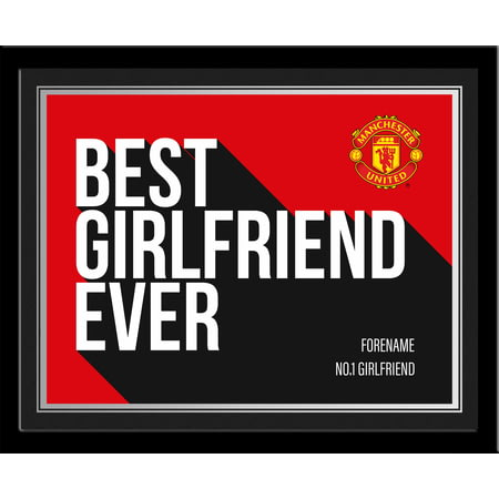 Personalised Manchester United Best Girlfriend Ever 10x8 Photo Framed