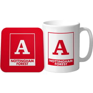 Personalised Nottingham Forest FC Monogram Mug & Coaster Set