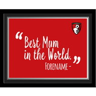 Personalised Bournemouth Best Mum In The World 10x8 Photo Framed