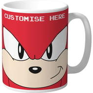 Personalised Classic Sonic Knuckles Face Mug