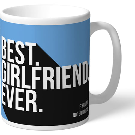 Personalised Manchester City Best Girlfriend Ever Mug