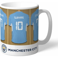 Personalised Manchester City FC Dressing Room Shirts Mug