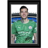 Personalised Manchester City FC Ederson Autograph Photo Framed