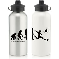 Personalised Swansea City FC Player Evolution Aluminium Sports Water Bottle
