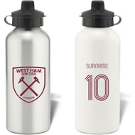 Personalised West Ham United Retro Shirt Aluminium Sports Water Bottle