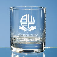 Personalised Bolton Wanderers FC Crest Whisky Glass