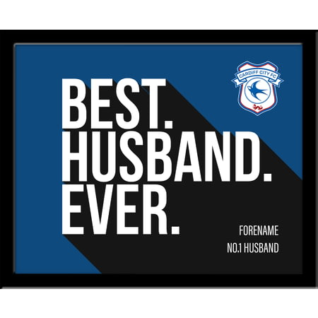 Personalised Cardiff City Best Husband Ever 10x8 Photo Framed