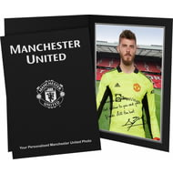 Personalised Manchester United FC De Gea Autograph Photo Folder