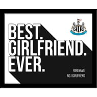 Personalised Newcastle United Best Girlfriend Ever 10x8 Photo Framed