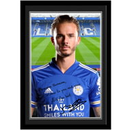 Personalised Leicester City FC Maddison Autograph Photo Framed