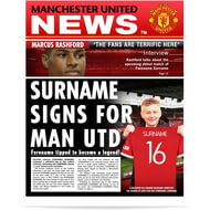 Personalised Manchester United FC Spoof Newspaper Single Page Print