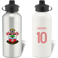 Personalised Southampton FC Retro Shirt Aluminium Sports Water Bottle