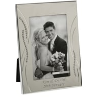 Personalised Silver Plated 6x4 Diamante Edge Frame