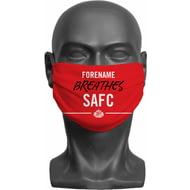 Personalised Sunderland AFC Breathes Adult Face Mask