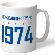 Personalised Cardiff City FC 100 Percent Mug