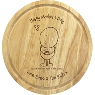 Personalised Chilli & Bubble's Mother's Day Round Chopping Board