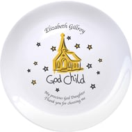 "Personalised Church Godchild 8"" Bone China Coupe Plate"