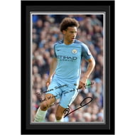 Personalised Manchester City FC Sane Autograph Photo Framed