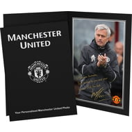 Personalised Manchester United FC Mourinho Autograph Photo Folder