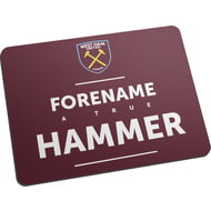 Personalised West Ham United FC True Mouse Mat