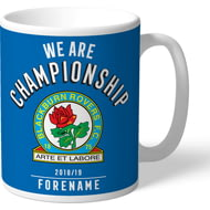 Personalised Blackburn Rovers FC We Are Championship Mug