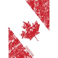 Personalised Canadian Flag Notebook