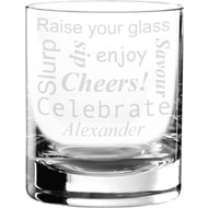 Personalised Celebratory Glass Tumbler