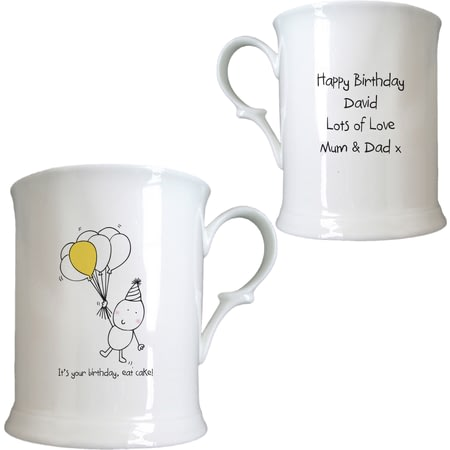 Personalised Chilli & Bubble's Birthday Half Pint Tankard