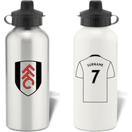 Personalised Fulham FC Aluminium Sports Water Bottle