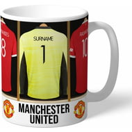 Personalised Manchester United FC Goalkeeper Dressing Room Shirts Mug