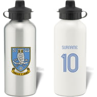 Personalised Sheffield Wednesday Retro Shirt Aluminium Sports Water Bottle