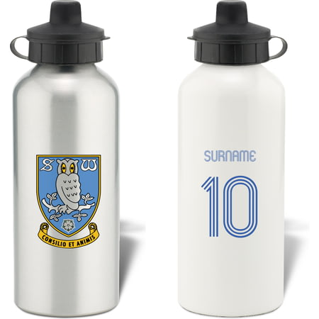 Personalised Sheffield Wednesday Retro Shirt Water Bottle