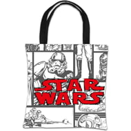 Personalised Star Wars Classic Grid Print Tote Bag
