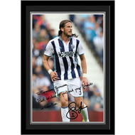 Personalised West Bromwich Albion FC Olsson Autograph Photo Framed