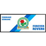 Personalised Blackburn Rovers Forever Regular Bar Runner