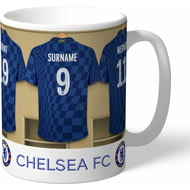 Personalised Chelsea FC Dressing Room Shirts Mug