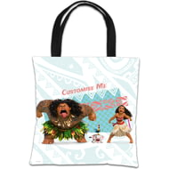 Personalised Disney Moana Group Pose Blue Tote Bag
