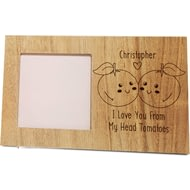 Personalised From My Head Tomatoes Panel Photo Frame