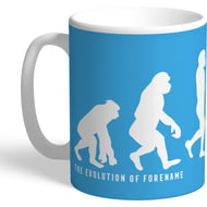 Personalised Manchester City Evolution Mug