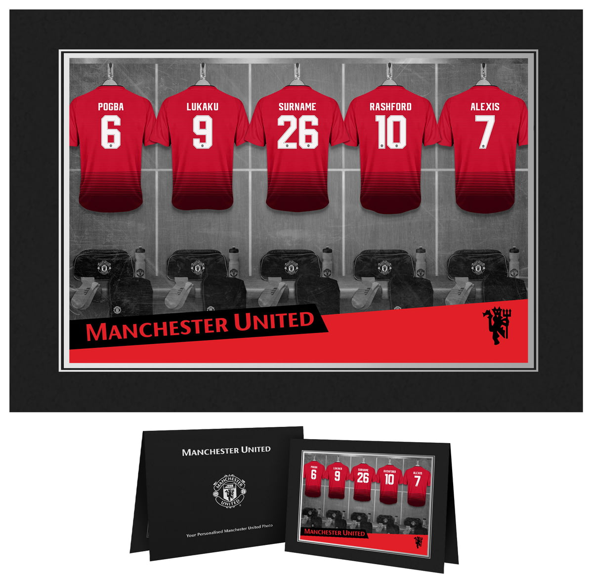 Personalised Manchester United Fc 9x6 Dressing Room Shirts Photo Folder From Go Find A Gift