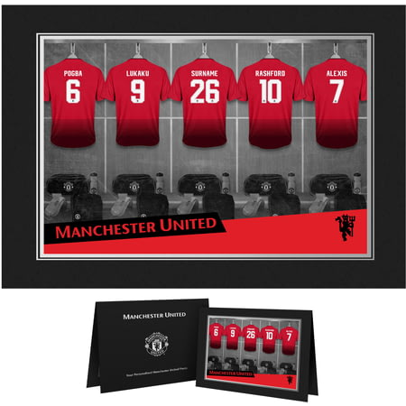 Personalised Manchester United FC 9x6 Dressing Room Shirts Photo Folder