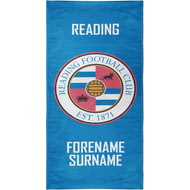 Personalised Reading FC Crest Bath Towel - 70cm X 140cm