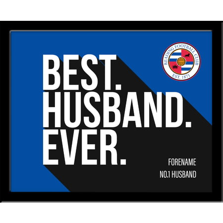 Personalised Reading Best Husband Ever 10x8 Photo Framed
